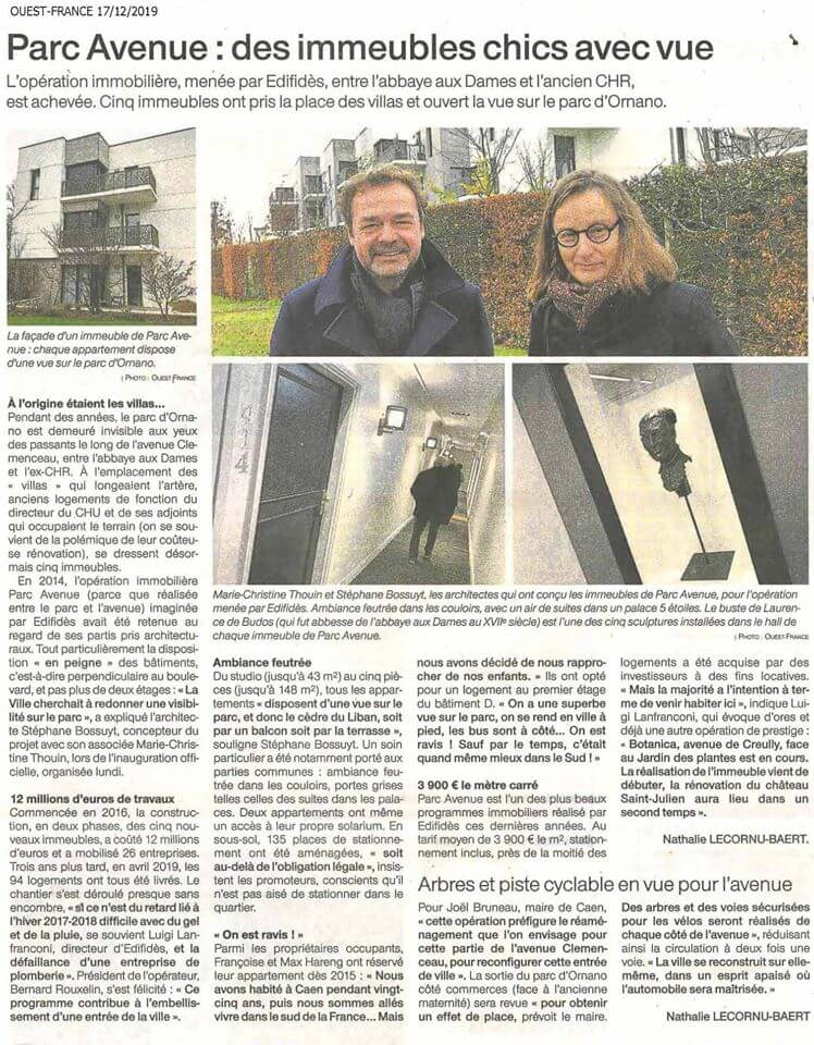 Article_Ouest_France_Parc_Avenue